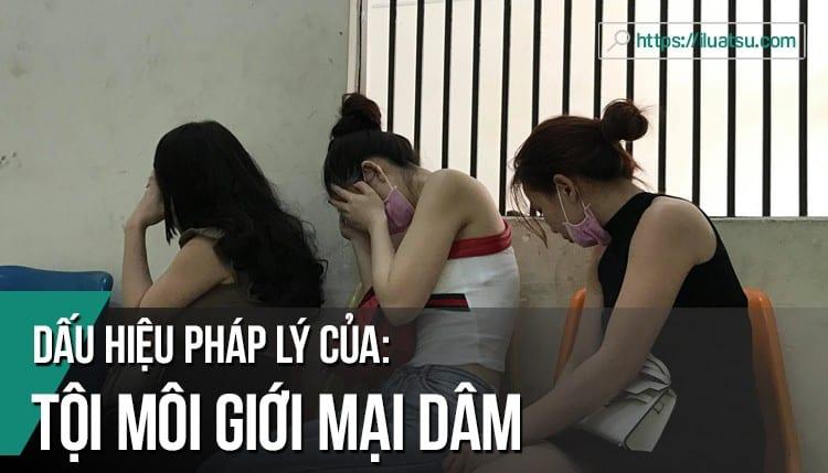 Dấu hiệu pháp lý của tội môi giới mại dâm