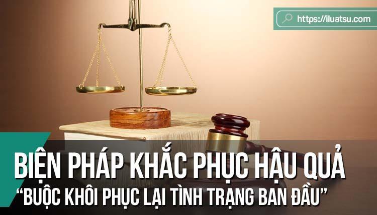 """Hoàn thiện quy định của pháp luật về biện pháp khắc phục hậu quả """"buộc khôi phục lại tình trạng ban đầu"""""""