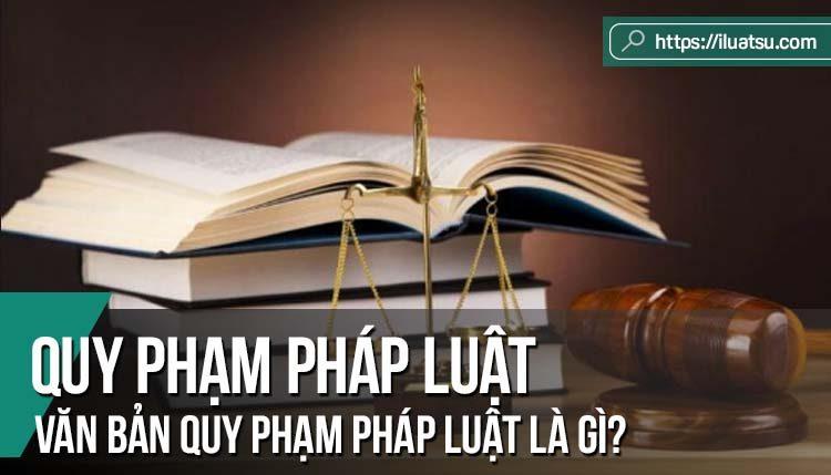 Quy phạm pháp luật và Văn bản quy phạm pháp luật là gì?