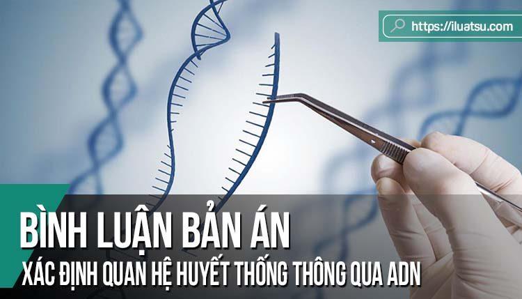 Bình luận bản án: Xác định quan hệ huyết thống thông qua ADN