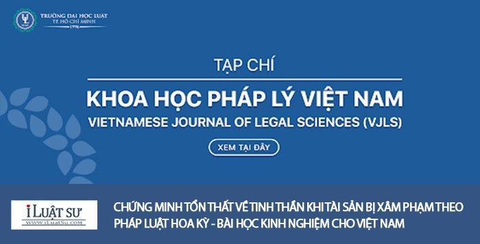 Chứng minh tổn thất về tinh thần khi tài sản bị xâm phạm theo pháp luật Hoa Kỳ - bài học kinh nghiệm cho Việt Nam
