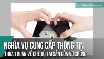 Nghĩa vụ cung cấp thông tin trong quá trình xác lập thỏa thuận về chế độ tài sản của vợ chồng