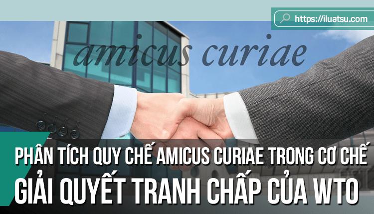 Phân tích quy chế Amicus Curiae trong cơ chế giải quyết tranh chấp của WTO