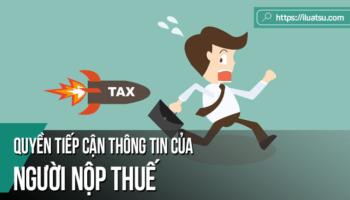 Quyền tiếp cận thông tin của người nộp thuế
