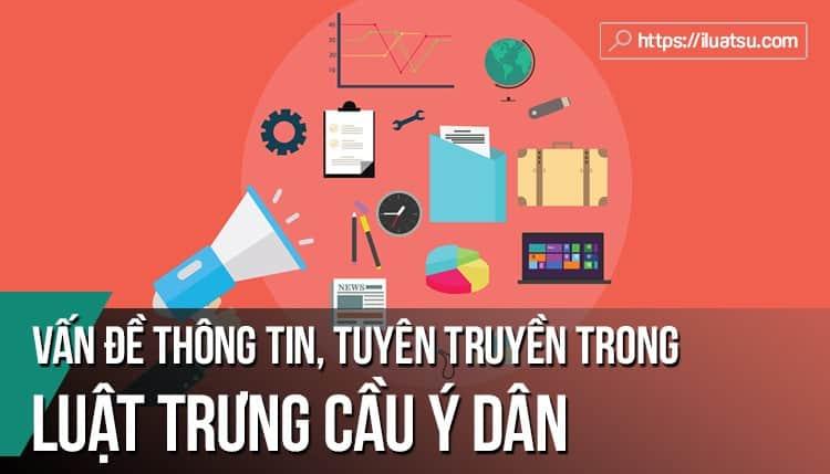 Vấn đề thông tin, tuyên truyền trong dự thảo luật trưng cầu ý dân ở Việt Nam