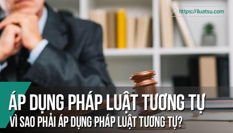 Áp dụng pháp luật tương tự là gì? Vì sao phải áp dụng pháp luật tương tự? Các loại áp dụng pháp luật tương tự?