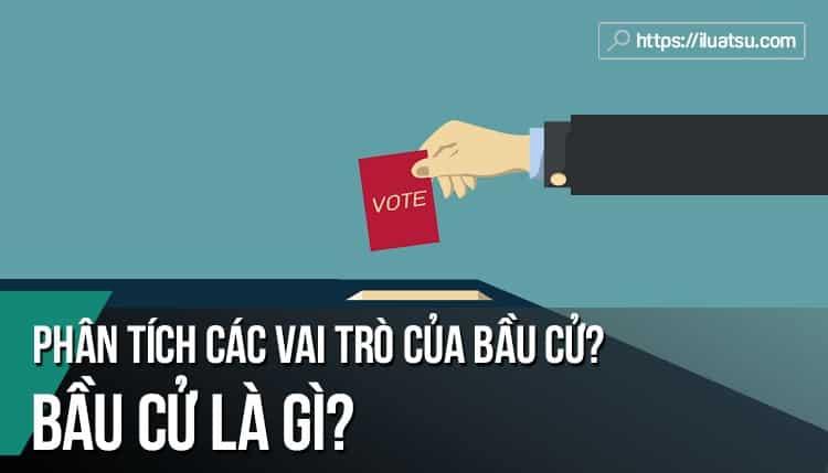 Bầu cử là gì? Phân tích các vai trò của bầu cử?