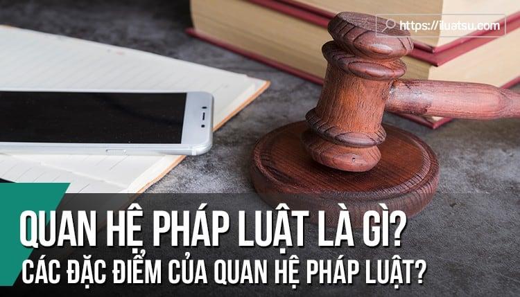 Quan hệ pháp luật là gì? Phân tích khái niệm và các đặc điểm của quan hệ pháp luật. Cho ví dụ?
