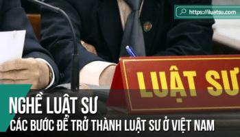 Các bước để trở thành Luật sư ở Việt Nam