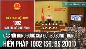Các nội dung được sửa đổi, bổ sung trong Hiến pháp 1992, sửa đổi, bổ sung 2001
