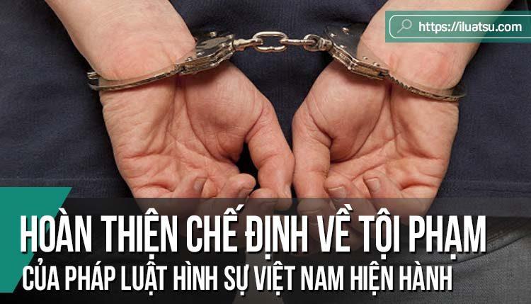 Hoàn thiện chế định lớn về tội phạm của pháp luật hình sự Việt Nam hiện hành