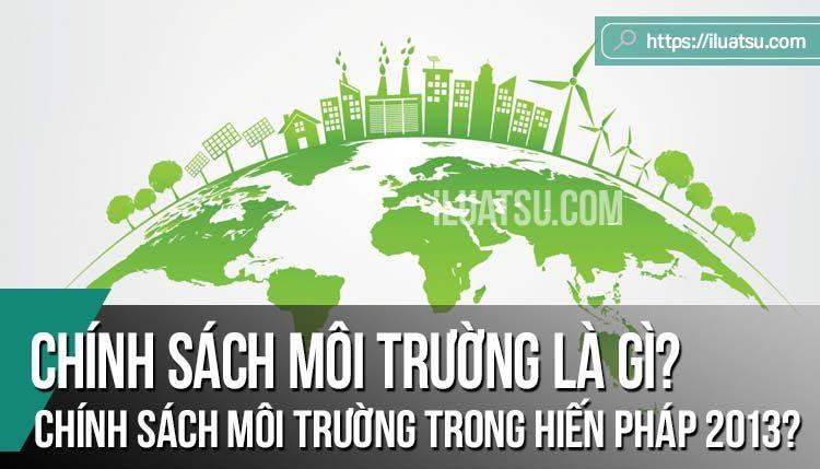Chính sách môi trường là gì? Chính sách môi trường trong Hiến pháp 2013?